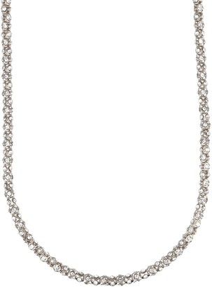 Anne Klein Classics Silver-Tone Crystal Glass Tubular Strand Necklace of 42 Inch