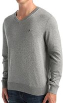 Nautica Men's Solid V Neck Sweater