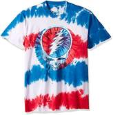 Liquid Blue Men's Grateful Dead American SYF Tie Dye Short Sleeve T-Shirt