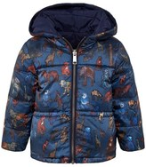 Paul Smith Navy and Animal Print Reversible Puffer