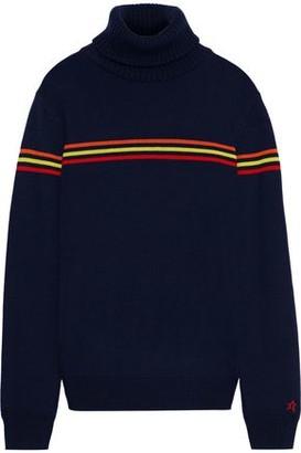 Perfect Moment Orelle Striped Merino Wool Turtleneck Sweater