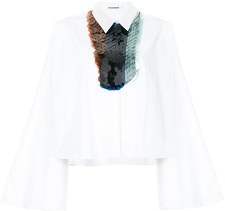Jil Sander Sequinned Bib Boxy Shirt