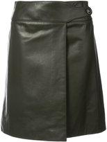 Carolina Herrera pleated skirt - women - Silk/Lamb Skin - 2