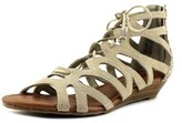 Minnetonka Merida Ii Women Open Toe Suede Gladiator Sandal.