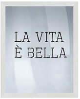 PTM Images La Vita Bella Silk Screen Wood Framed Wall Art