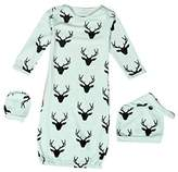 Efaster® Efaster(TM) Lovely Baby Reindeer Pattern Gown Hat Mittens Anti-kick Sleeping Bag (6M, )