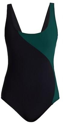 Karla Colletto Swim Aidan Colorblock One-Piece Swimsuit