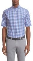 Paul & Shark Men's Regular Fit Short Sleeve Check Sport Shirt