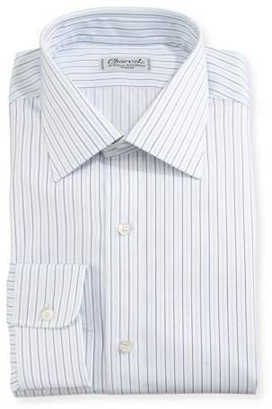 Charvet Multi-Stripe Dress Shirt, White/Blue/Black