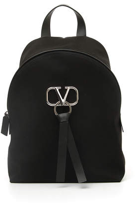 Valentino Garavani Men's Go Logo Ribbon Backpack
