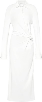 Bottega Veneta White Gathered Shirt Dress
