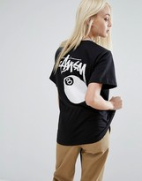 Stussy Oversized T-Shirt With Script Logo & 8 Ball