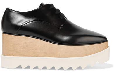 Stella McCartney Faux Leather Platform Brogues - Black