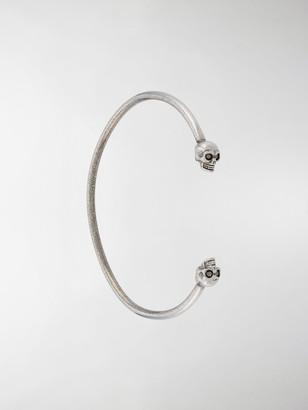 Alexander McQueen Skull-Embellished Cuff Bracelet