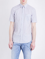 Diesel S-Wop geometric-print cotton-poplin shirt