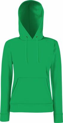 Fruit of the Loom Lady Fit Hooded Sweatshirt Kelly Green XS