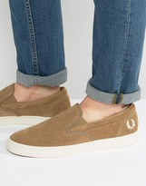 Fred Perry Underspin Slipon Suede Sneakers