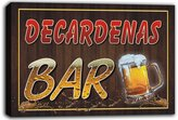 AdvPro Canvas scw3-055873 DECARDENAS Name Home Bar Pub Beer Mugs Stretched Canvas Print Sign