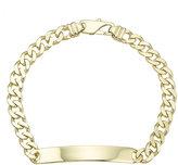 9ct Yellow Gold Men's ID Flat Solid Curb Bracelet