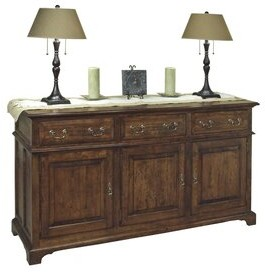 "MacKenzie-Dow 65.5"" Wide Cherry Wood Sideboard Color: Acanthus"