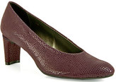 Footnotes Dayle - Lizard Print Suede Pump