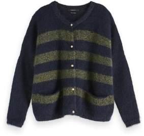 Scotch & Soda Fluffy Knit Cardigan - XS - Blue/Green