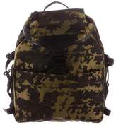 Alexander McQueen Leather-Trimmed Camo Backpack