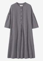 Toast Stripe Cotton Linen Tunic Dress