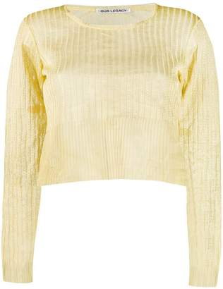 Our Legacy cropped jumper