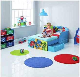 Pj Masks Argos Home PJ Masks Toddler Bed with Underbed Storage