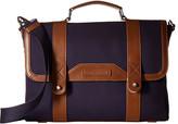 Tommy Hilfiger David-Briefcase-Canvas w/ Leather Trim