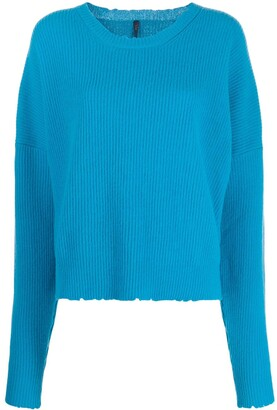 Unravel Project Ribbed Crew Neck Jumper