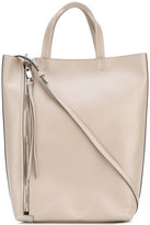 Elena Ghisellini side zip tote bag - women - Leather - One Size