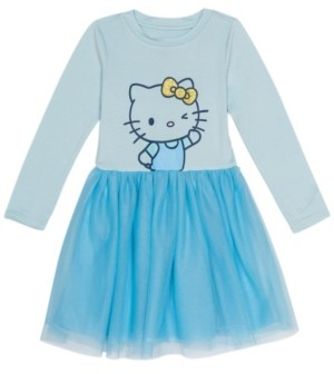 Disney Little Girls Hello Kitty Dress with Mesh Skirt
