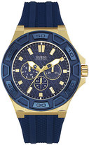 guess watch straps men shopstyle uk guess men s navy blue silicone strap watch