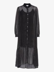 Project Aj117 - Darryl Ruffle Dot Dress Black - XS
