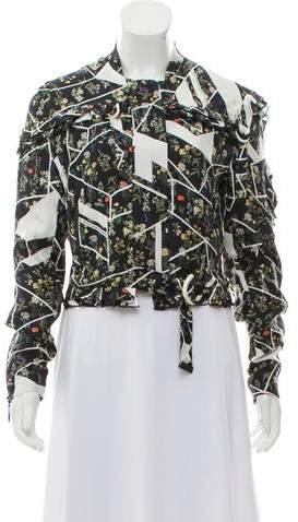 Preen by Thornton Bregazzi Silk Bomber Jacket