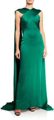 Zac Posen Draped Crisscross Gown