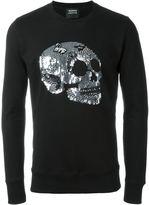 Markus Lupfer sequin skull sweatshirt