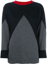 Marni contrast knitted top - women - Virgin Wool - 40