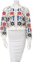 Alice + Olivia Embellished Embroidered Jacket