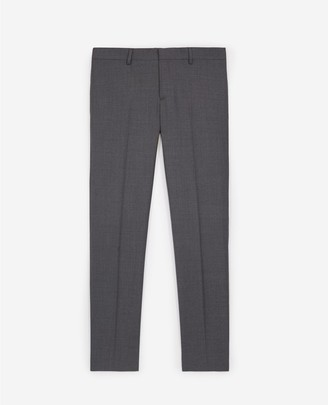 The Kooples Grey loose-fitting suit trousers in wool
