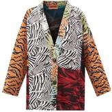 Missoni Panelled Jacquard-knit Cardigan - Womens - Orange Multi