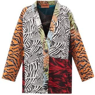 Missoni Panelled Jacquard Cardigan - Womens - Orange Multi