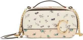 Chloé C Floral Print Leather Crossbody Bag
