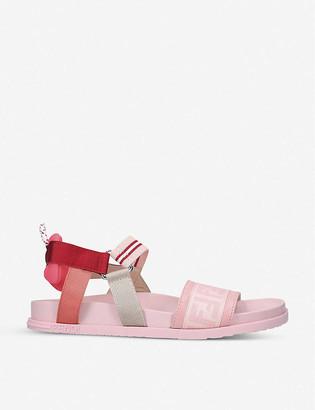 Fendi FF logo-print elasticated sandals 7-10 years