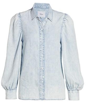 Rails Angelica Denim Puff-Sleeve Shirt