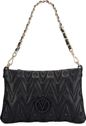 Mario Valentino Valentino By Vanille D Quilted Stud Leather Shoulder Bag