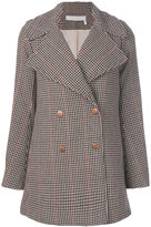 See by Chloe houndstooth pattern peacoat