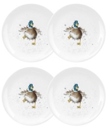 """Royal Worcester Wrendale Duck Plate, """"Waddle and a Quack"""" - Set of 4"""